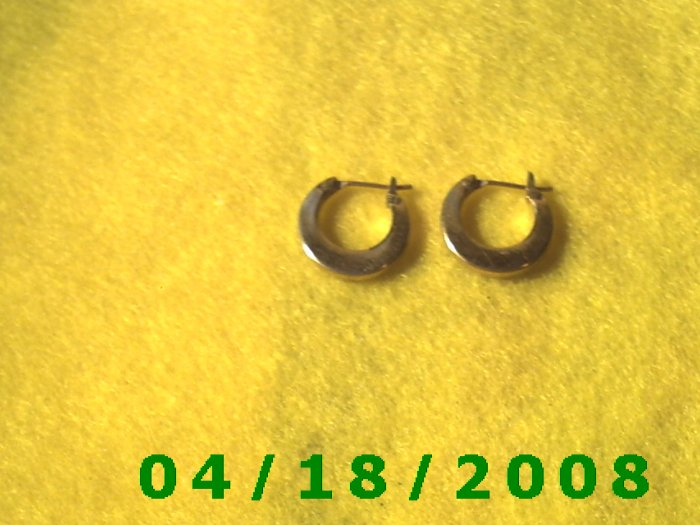 Gold Hoop Pierced Earrings (MET)        Q3A006