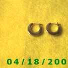 Gold Hoop Pierced Earrings (MET)        Q3A006