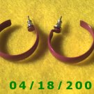 Red Hoop Pierced Earrings    Q3028