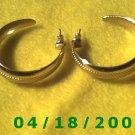 Gold Hoop Pierced Earrings    Q3037