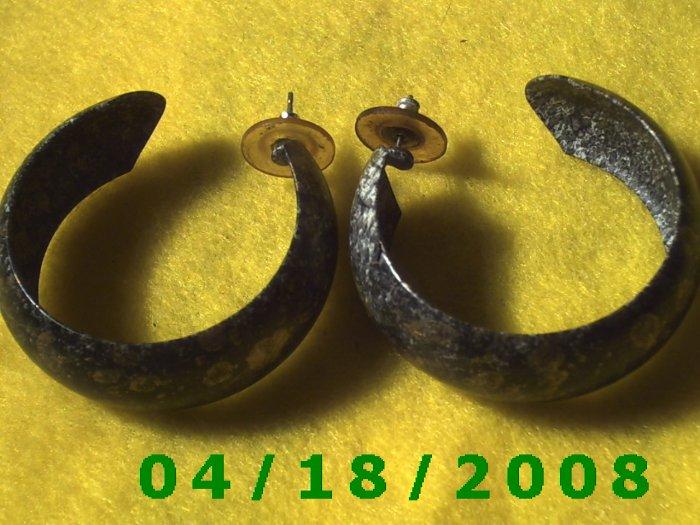 Printed Hoop Pierced Earrings    Q3041