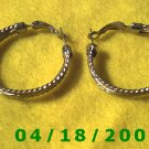 Silver Hoop Pierced Earrings    Q3038
