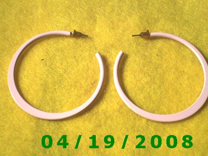 Pink Hoop Pierced Earrings    Q3058