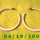 Pink Hoop Pierced Earrings    Q3058