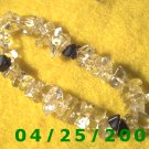 Simulated Clear Stones  Stretch Bracelet     B005