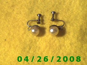 Pearl Screwback Earrings       094