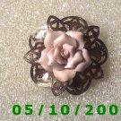 Silver Filligre w/Rose Pin  A083