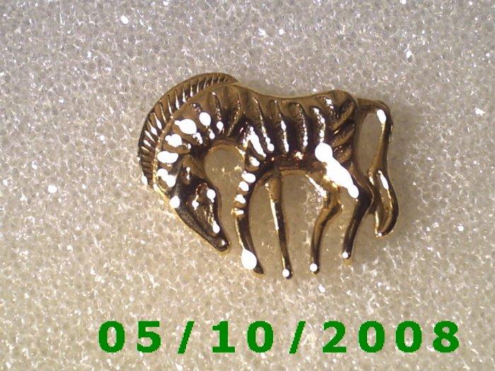 Gold Zebra Pin
