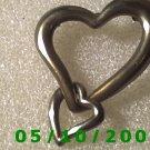 Silver Hearts Pin  027