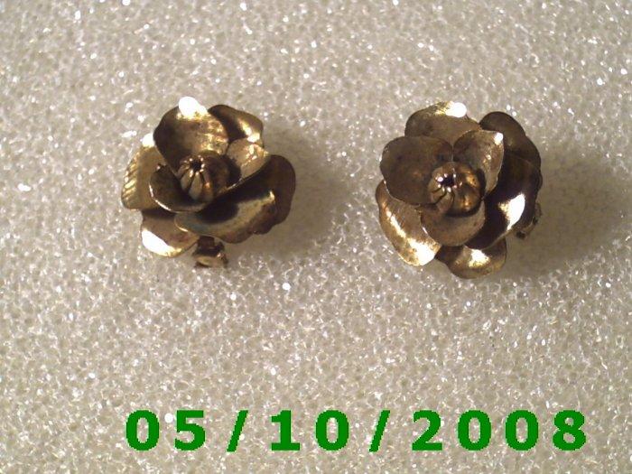 1pr Brass Roses Pin