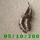 Brass Leaf w/stone Pin