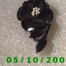 Black Flower Pin