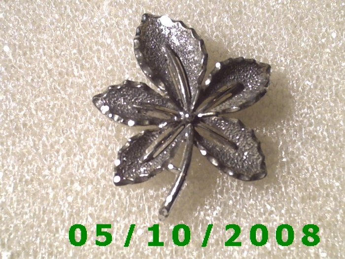 Silver Flower Pin signed Sarah Cov
