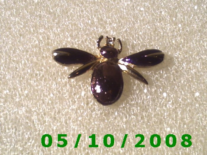 Purple Bug w/diamond Pin