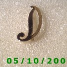 Silver Letter D Pin  A043