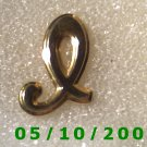 Gold Letter L Pin