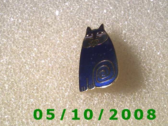"Fat Cat Pin signed ""Olivia"" Paul Burch"