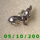 Silver Dog Pin