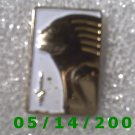 Gold n White Woman Pin   B047