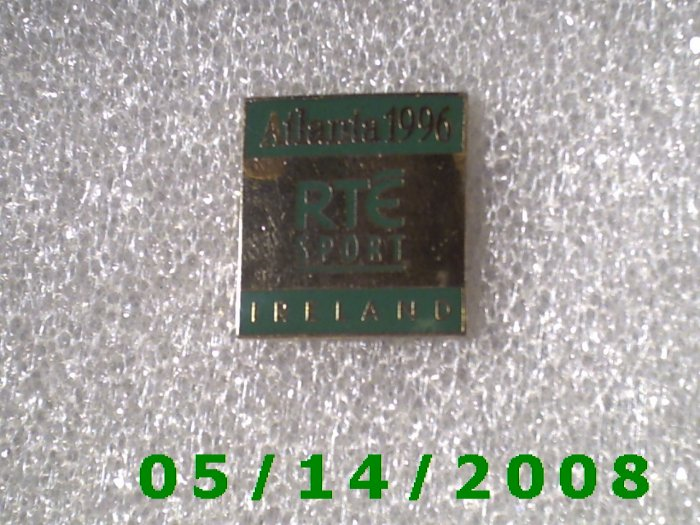 Gold Atlanta 1996 RTE Sport Ireland Pin    B042