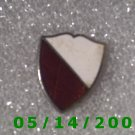 Silver Red n White Shield Pin    B041