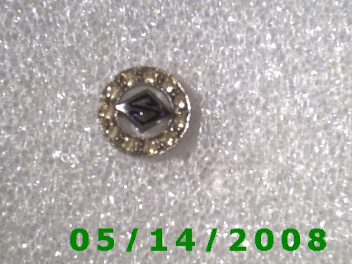 Silver S n Rhinestones Pin  (BB001)