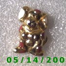 Gold Dog Pin    B036