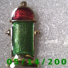 Gold Red n Green Fire Hydrant Pin    B022