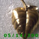 Gold Leaf Pin and Locket Signed Avon    B018