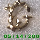 Gold Letter G Pin Signed Sarah Cov  B014