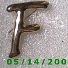 Gold Letter F Pin    B013