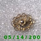 Gold Filligree Pin Signed Freirich  B007