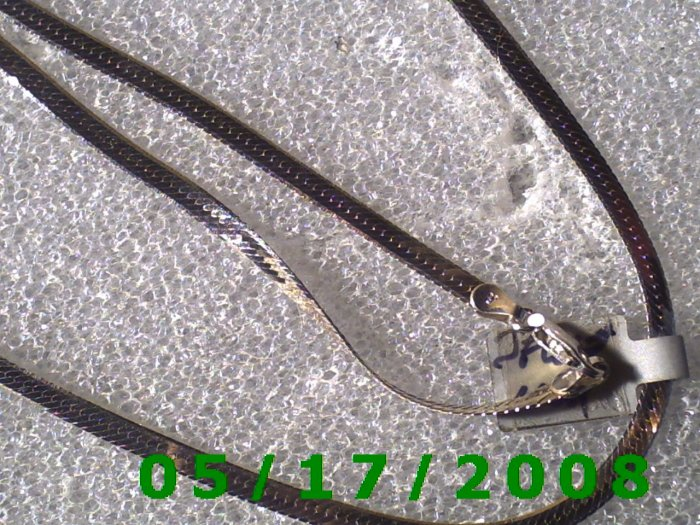 "24"" Silver .925  Necklace  Italy 3mm (004)"