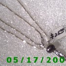 "16"" Silver .925  Necklace 1.5mm w/charm .925 (005)"