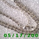 "16.5"" Silver Necklace, Rhinestone 6mm (008)"