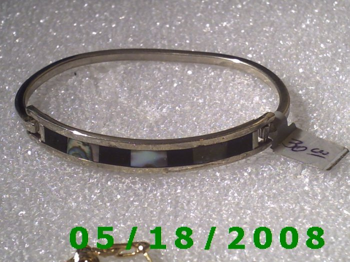 "2.5"" inside diameter Mexico Silver Bracelet (Roll2 001)"