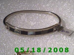 """2.5"""" inside diameter Mexico Silver Bracelet (Roll2 001)"""