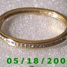 "2.5"" inside dia Gold Plated Rhinestone Bracelet (003) (053)"