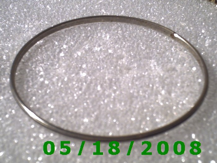 "Silver Bracelet 2 7/8"" Inside Diameter (008) (058)"