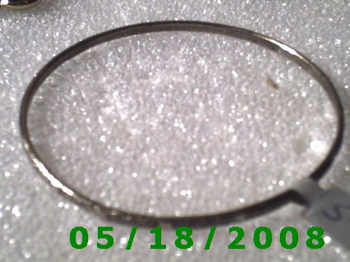 "2 1/2"" Silver Bracelet Inside Diameter (009)"