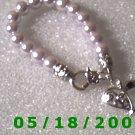 Pearl Bracelet w/Silver Heart    Roll2 012