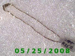 """7""""   10K Solid Gold Bracelet (014)"""