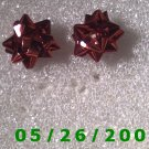 Red Bow Pierced Earrings     C001
