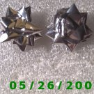 Silver Bow Pierced Earrings     C002