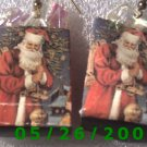 Christmas Shopping Bag Pierced Earrings     C005