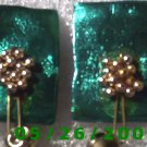 Bead Flower and Bell Pierced Earrings     C007
