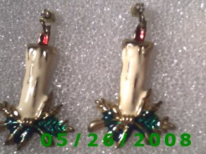Candle Pierced Earrings     C013