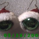 Santa's Hat Pierced Earrings     C016