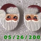 Santa Pierced Earrings     C021