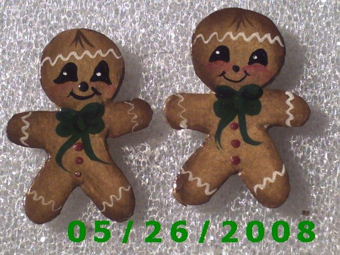 Ginger Bread Man Pierced Earrings     C023